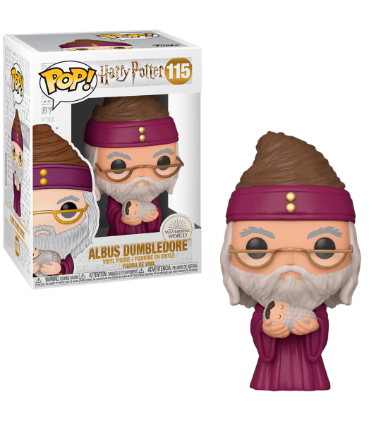 Funko POP Harry Potter: Dumbledore y bebe Harry