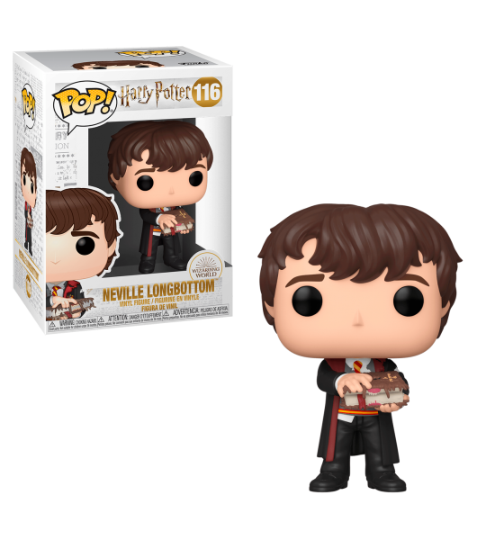 Funko POP Harry Potter: Neville con Libro de monstruos