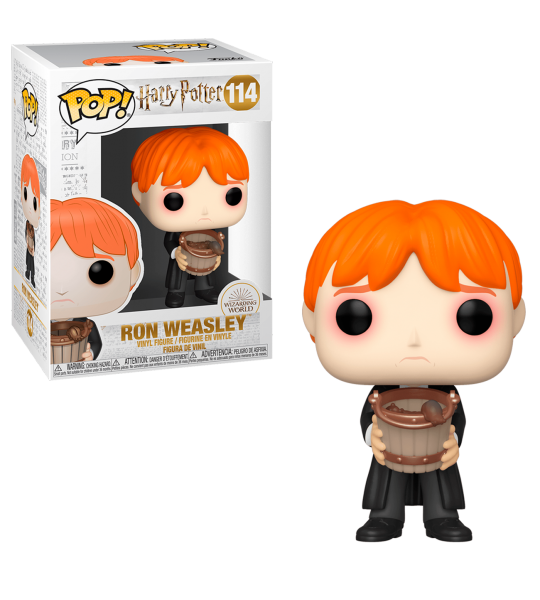Funko POP Harry POP: Ron con cubo de babosas