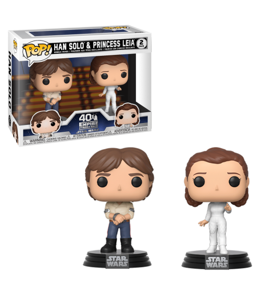 Funko POP Star Wars: Han y Leia pack