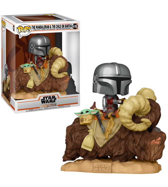 Funko POP Deluxe: The Mandalorian on Bantha