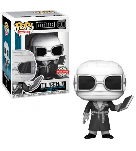 Funko POP Universal Monsters: Hombre Invisible B&N  (EXC)